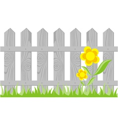 Wooden Fence Background vector image vector image