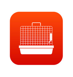 cage for birds icon digital red vector image