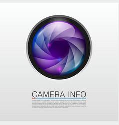 camera info banner vector image