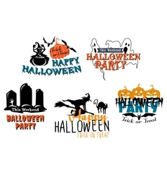 Halloween themes set vector