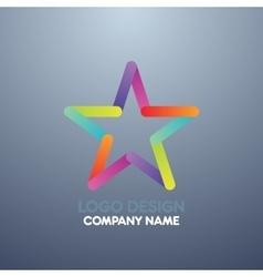 logo design star vector image