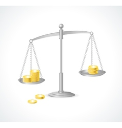 silver justice scales and money vector image