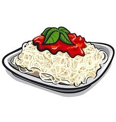 Spaghetti pasta vector