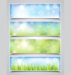 Spring Bokeh Banners vector image