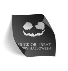 Trick or Treat Happy Halloween black Poster vector image vector image