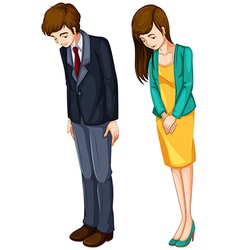 A girl and a boy in their formal attires vector image