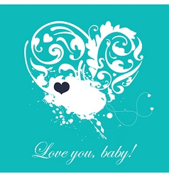 Lovely romantic card vector image