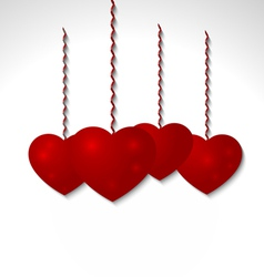 Red volumetric heart - Valentines Day vector image vector image