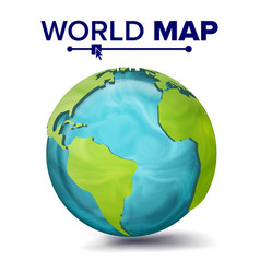 world map 3d planet sphere earth with vector image vector image