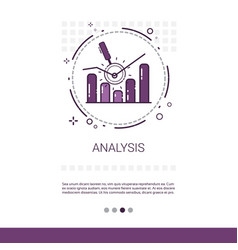 analytics financial business analysis banner with vector image
