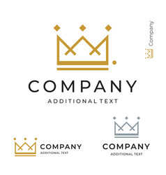 crown logo modern identity brand icon commercial vector image vector image