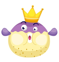 isolated king blowfish vector image
