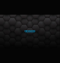 3d hexagon tech structure abstract black vector