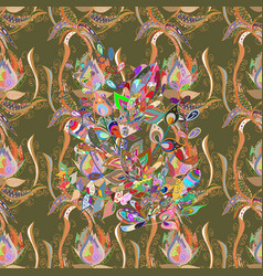 abstract pattern hand-drawn colored mandala on a vector image