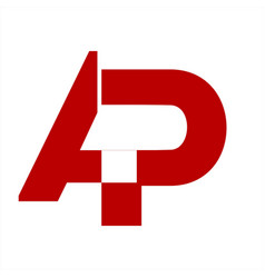 ap initials letter company logo and icon vector image