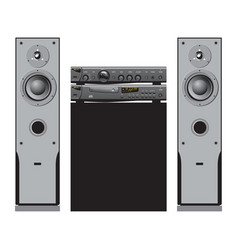 audio and home theater components vector image