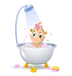 Baby in the shower vector