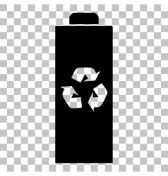 Battery recycle sign Flat style vector image