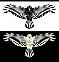 Black crow rawen 0002 vector