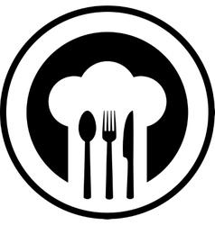 Black restaurant sign vector