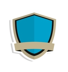 blue shield emblem icon vector image