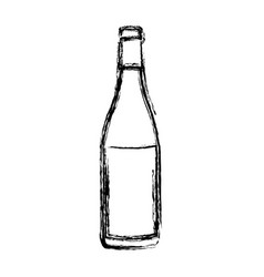 blurred silhouette champagne bottle with label vector image