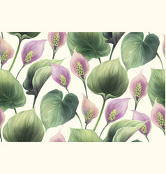 calla flowers seamless pattern vector image