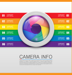 camera info banner vector image