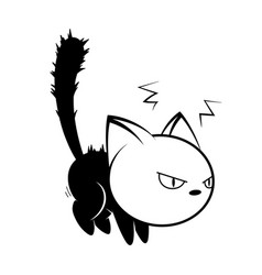 Cat logo on white background vector