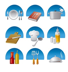 Cooking icons fon vector
