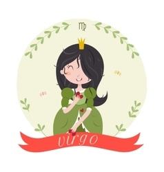 Cute zodiac sign - Virgo vector image