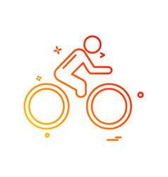 cycle icon design vector image