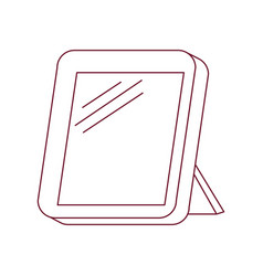 Dark red line contour of photo frame vector