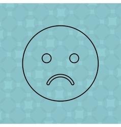 Emoticon icon design vector