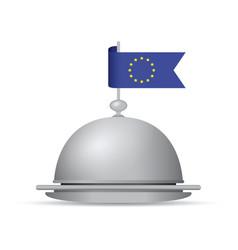 european flag dinner platter vector image