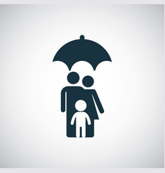 Family insurance umbrella icon vector