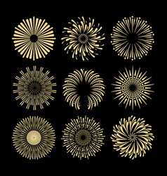 Fireworks and firecrackers an explosion energy vector