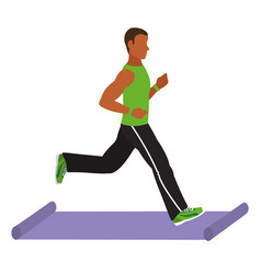 Fit man doing exercise vector
