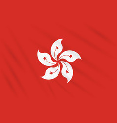 Flag hong kong swaying in wind vector