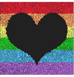 Flag lgbt for celebration heart peace pride gay vector