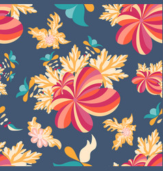 flowers seamless pattern for your design vector image