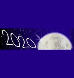 Full moon 2020 vector