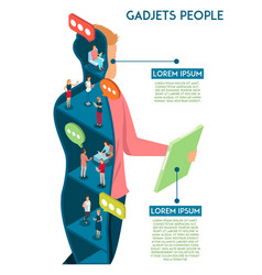 gadgets human communication concept vector image