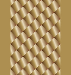 geometric pattern with shimmering golden color vector image