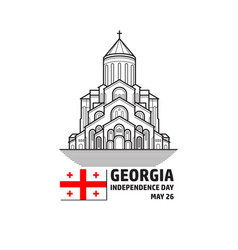 georgia independence day greeying card vector image