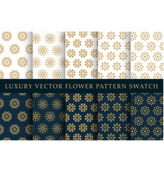 golden luxury swatches pattern pack vector image