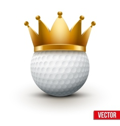 Golf ball with king crown vector image