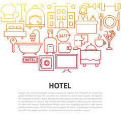 hotel line concept vector image