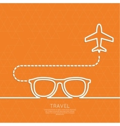 Icon airplane and suitcase vector image