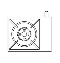 icon of camping gas burner stove vector image